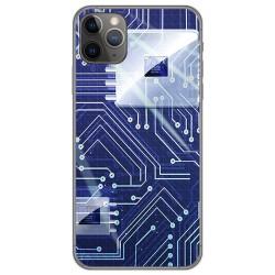 Funda Gel Tpu para Iphone 11 Pro (5.8) diseño Circuito Dibujos