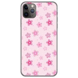 Funda Gel Tpu para Iphone 11 Pro (5.8) diseño Flores Dibujos