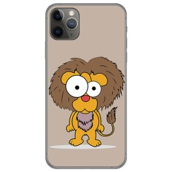 Funda Gel Tpu para Iphone 11 Pro (5.8) diseño Leon Dibujos