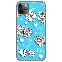 Funda Gel Tpu para Iphone 11 Pro (5.8) diseño Mariposas Dibujos