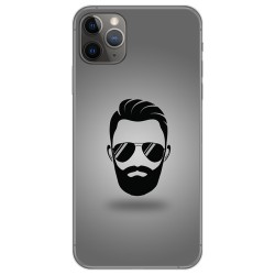 Funda Gel Tpu para Iphone 11 Pro Max (6.5) diseño Barba Dibujos