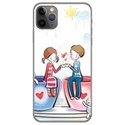 Funda Gel Tpu para Iphone 11 Pro Max (6.5) diseño Café Dibujos