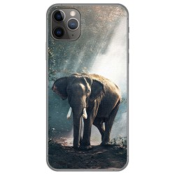 Funda Gel Tpu para Iphone 11 Pro Max (6.5) diseño Elefante Dibujos