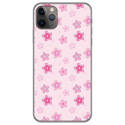 Funda Gel Tpu para Iphone 11 Pro Max (6.5) diseño Flores Dibujos