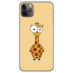 Funda Gel Tpu para Iphone 11 Pro Max (6.5) diseño Jirafa Dibujos