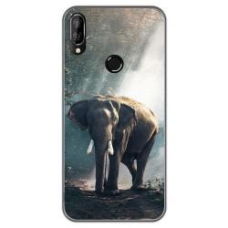 Funda Gel Tpu para Oukitel C16 Pro diseño Elefante Dibujos