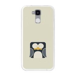 Funda Gel Tpu para Doogee Y6 / Y6C Diseño Pingüino Dibujos