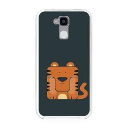 Funda Gel Tpu para Doogee Y6 / Y6C Diseño Tigre Dibujos