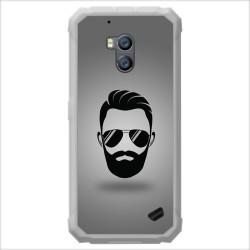 Funda Gel Tpu para Ulefone Armor X2 diseño Barba Dibujos