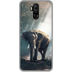 Funda Gel Tpu para Leagoo M13 diseño Elefante Dibujos