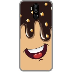 Funda Gel Tpu para Leagoo M13 diseño Helado Chocolate Dibujos