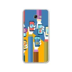 Funda Gel Tpu para Samsung Galaxy A3 (2017) Diseño Apps Dibujos