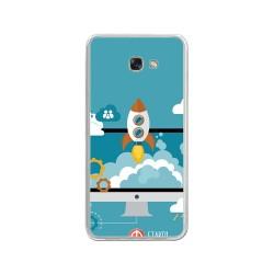 Funda Gel Tpu para Samsung Galaxy A3 (2017) Diseño Cohete Dibujos