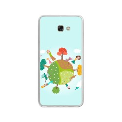 Funda Gel Tpu para Samsung Galaxy A3 (2017) Diseño Familia Dibujos