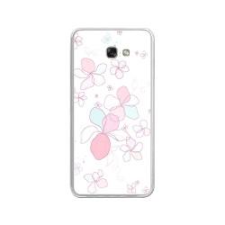 Funda Gel Tpu para Samsung Galaxy A3 (2017) Diseño Flores-Minimal Dibujos