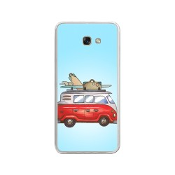 Funda Gel Tpu para Samsung Galaxy A3 (2017) Diseño Furgoneta Dibujos