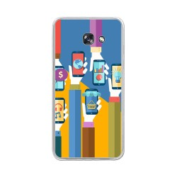 Funda Gel Tpu para Samsung Galaxy A5 (2017) Diseño Apps Dibujos