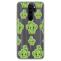 Funda Gel Transparente para Xiaomi Redmi Note 8 Pro diseño Cactus Dibujos