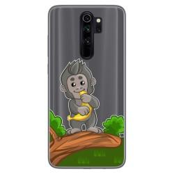Funda Gel Transparente para Xiaomi Redmi Note 8 Pro diseño Mono Dibujos