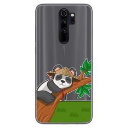 Funda Gel Transparente para Xiaomi Redmi Note 8 Pro diseño Panda Dibujos