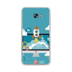 Funda Gel Tpu para Samsung Galaxy A5 (2017) Diseño Cohete Dibujos