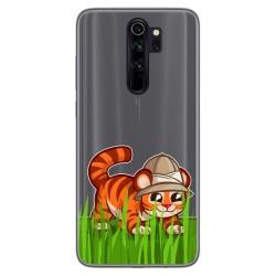 Funda Gel Transparente para Xiaomi Redmi Note 8 Pro diseño Tigre Dibujos