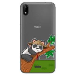 Funda Gel Transparente para Wiko Y50 diseño Panda Dibujos