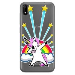 Funda Gel Transparente para Wiko Y50 diseño Unicornio Dibujos