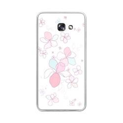 Funda Gel Tpu para Samsung Galaxy A5 (2017) Diseño Flores-Minimal Dibujos