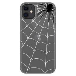 Funda Gel Transparente para Iphone 11 (6.1) diseño Araña Dibujos