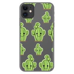 Funda Gel Transparente para Iphone 11 (6.1) diseño Cactus Dibujos