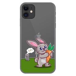 Funda Gel Transparente para Iphone 11 (6.1) diseño Conejo Dibujos