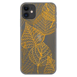 Funda Gel Transparente para Iphone 11 (6.1) diseño Hojas Dibujos