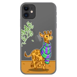 Funda Gel Transparente para Iphone 11 (6.1) diseño Jirafa Dibujos