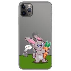 Funda Gel Transparente para Iphone 11 Pro (5.8) diseño Conejo Dibujos