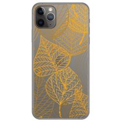 Funda Gel Transparente para Iphone 11 Pro (5.8) diseño Hojas Dibujos