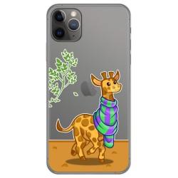 Funda Gel Transparente para Iphone 11 Pro (5.8) diseño Jirafa Dibujos