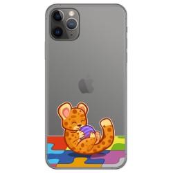 Funda Gel Transparente para Iphone 11 Pro (5.8) diseño Leopardo Dibujos