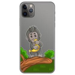Funda Gel Transparente para Iphone 11 Pro (5.8) diseño Mono Dibujos