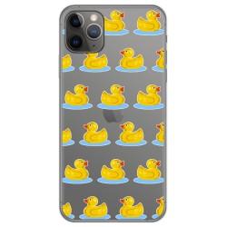 Funda Gel Transparente para Iphone 11 Pro (5.8) diseño Pato Dibujos