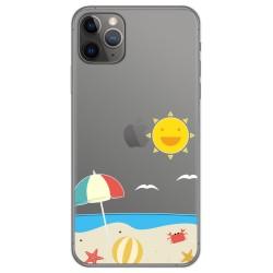 Funda Gel Transparente para Iphone 11 Pro (5.8) diseño Playa Dibujos