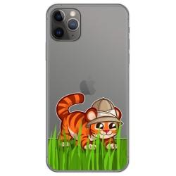 Funda Gel Transparente para Iphone 11 Pro (5.8) diseño Tigre Dibujos