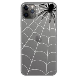 Funda Gel Transparente para Iphone 11 Pro Max (6.5) diseño Araña Dibujos