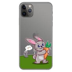 Funda Gel Transparente para Iphone 11 Pro Max (6.5) diseño Conejo Dibujos