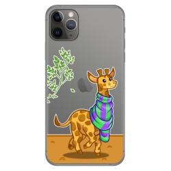 Funda Gel Transparente para Iphone 11 Pro Max (6.5) diseño Jirafa Dibujos