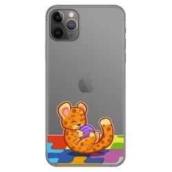 Funda Gel Transparente para Iphone 11 Pro Max (6.5) diseño Leopardo Dibujos