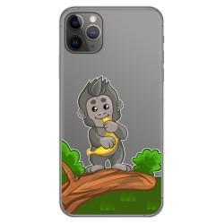 Funda Gel Transparente para Iphone 11 Pro Max (6.5) diseño Mono Dibujos