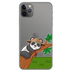 Funda Gel Transparente para Iphone 11 Pro Max (6.5) diseño Panda Dibujos