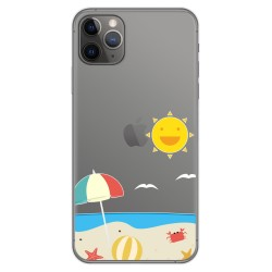 Funda Gel Transparente para Iphone 11 Pro Max (6.5) diseño Playa Dibujos