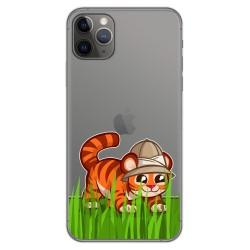 Funda Gel Transparente para Iphone 11 Pro Max (6.5) diseño Tigre Dibujos